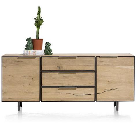 Pedro, Sideboard 2-Tueren + 3-Laden - 180 cm