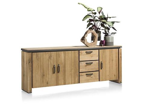 farmland sideboard 3 tueren 3 laden 240 cm. Black Bedroom Furniture Sets. Home Design Ideas