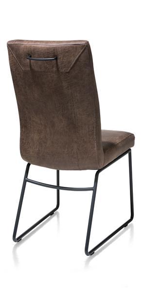 Malene, Stuhl - Gestell Rohr Schwarz - Handgriff rund - Stoff Secillia