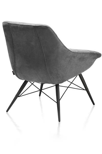 Ravenna, Sessel schwarz Gestell + Stoff Kibo