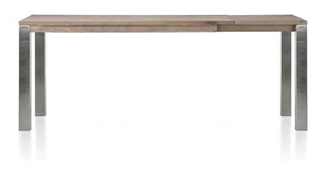 Masters, Auszieh-Tresentisch 180 (+ 60) x 90 cm - Edelstahl 9x9