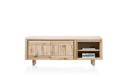 More, Lowboard 180 cm - 2-Tueren + 2-Nischen - Holz