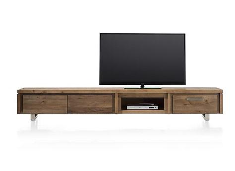 more tv sideboard 2 klappen 240 cm edelstahl henders hazel. Black Bedroom Furniture Sets. Home Design Ideas