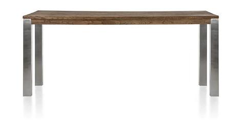 Masters, Tresentisch 220 x 100 cm - Edelstahl 9x9