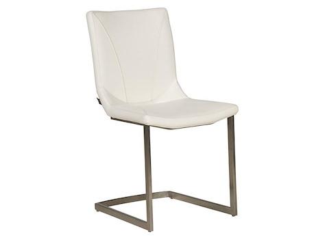 stuhl aus leder und edelstahl arthur henders hazel. Black Bedroom Furniture Sets. Home Design Ideas