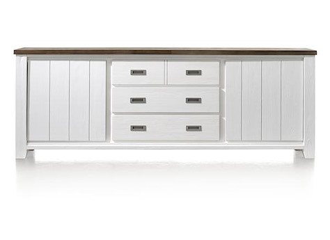 velasco sideboard 2 t ren 3 laden 240 cm henders hazel. Black Bedroom Furniture Sets. Home Design Ideas