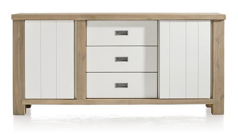 Istrana, Sideboard 1-Tuer + 1-Schiebetuer + 3-Laden - 180 cm-1