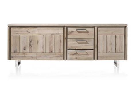 more sideboard 3 tueren 3 laden 240 cm edelstahl. Black Bedroom Furniture Sets. Home Design Ideas