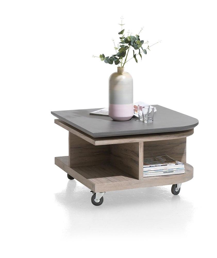 eivissa salontafel 80 x 80 cm 4 niches met draaiende top. Black Bedroom Furniture Sets. Home Design Ideas