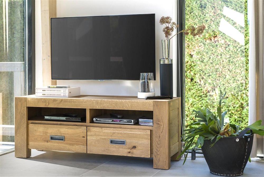 Santorini tv dressoir 2 laden 140 cm henders hazel - Configuratie dressing ...