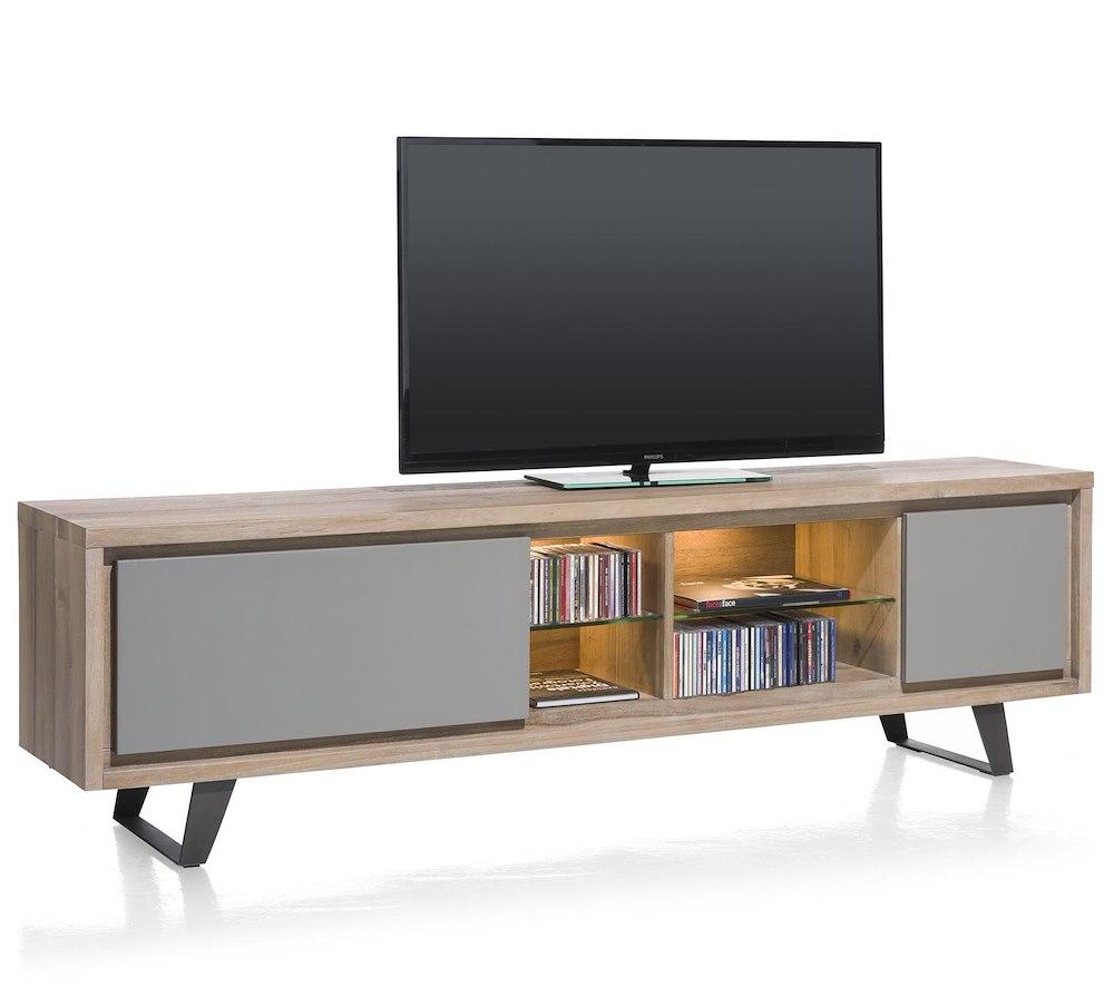 lade a led e watt box lowboard 1 lade 1 klep 4 niches 210 cm led. Black Bedroom Furniture Sets. Home Design Ideas