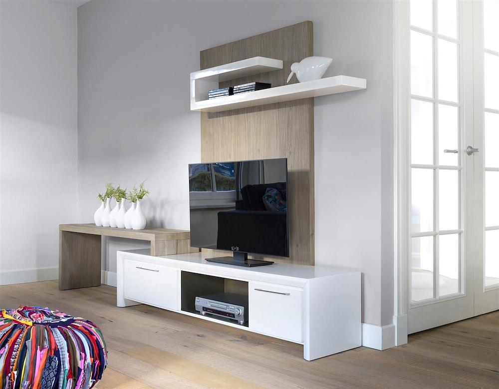Kozani, tv-dressoir 1-lade + 1-klep 180 cm - Henders u0026 Hazel