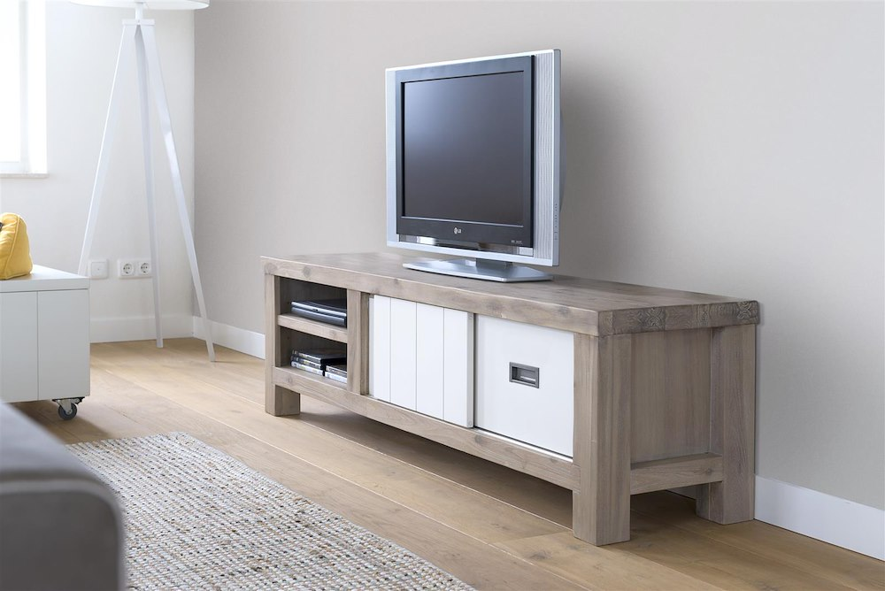 Istrana, tv dressoir 1 schuifdeur + 1 lade + 2 niches 160 cm