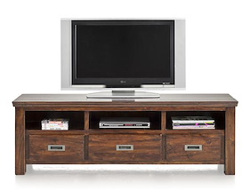 Cape Cod, Tv-dressoir 3-laden + 3-niches - 160 Cm