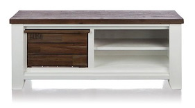 Velasco, Tv-dressoir 1-box + 2-niches - 130 Cm