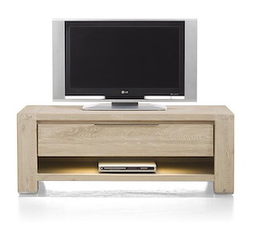 Buckley, Tv-dressoir 1-lade + 1-niche 120 Cm (+ Led)