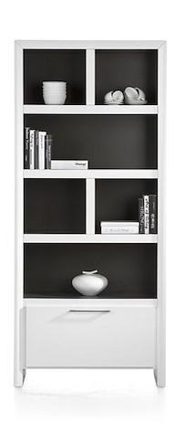 Kozani, Boekenkast 1-lade + 6-niches - 88 Cm