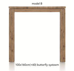 A La Carte, Uitschuif-bartafel 160 (+ 60) X 100 Cm - Ben