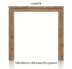 A La Carte, Uitschuif-bartafel 200 (+ 60) X 100 Cm - Ben