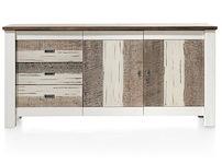 Tibro, Dressoir 2-deuren + 3-laden - 180 Cm