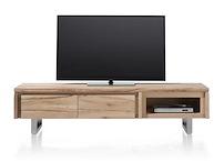 More, Tv-dressoir 2-kleppen + 1-niche 180 Cm - Rvs