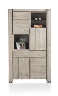 Avola, Bergkast 4-deuren + 1-lade + 4-niches