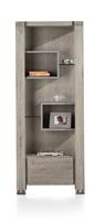 Avola, Boekenkast 1-lade + 5-niches - 190 Cm