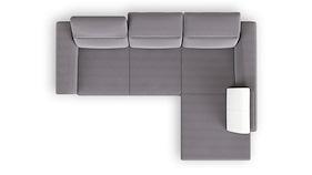 Valras, 2.5-zits + Longchair Rechts + Lounge + Box