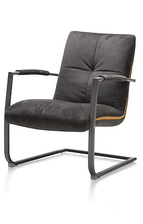 Margrit, Fauteuil Met Frame In Rvs Of Vintage