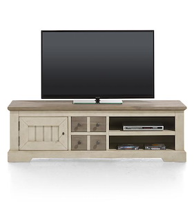 Le Port, Tv-dressoir 1-deur + 2-laden + 2-niches - 160 Cm