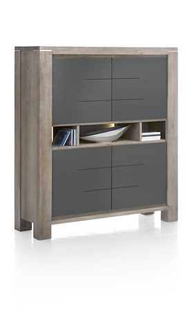 Multiplus, Highboard Smal 4-deuren + 3-niches (+ Led)
