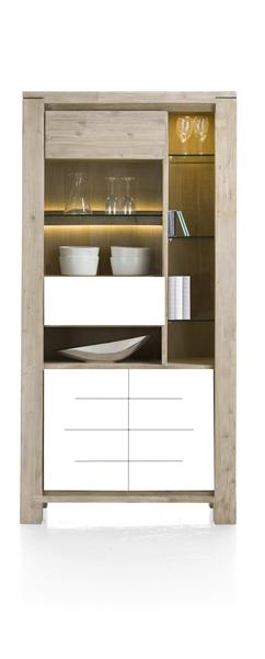Multiplus, Vitrine 1-glasdeur + 2-deuren + 5-niches (+ Led)
