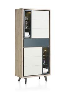Jade, Bergkast 2-deuren + 1-lade + 6-niches - 85 Cm (+ Led)