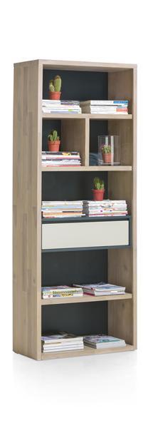 Jade, Boekenkast 1-lade + 6-niches - 75 Cm