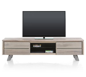 Ermont, Tv-dressoir 1-lade + 1-klep + 2-niches - 190 Cm