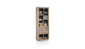 ermont boekenkast 2 laden 7 niches 70 cm