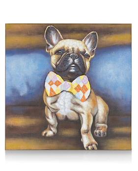 Schilderij Bulldog Pride - 80 X 80 Cm