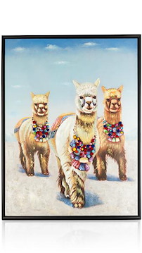 Schilderij Alpaca Glory - 80 X 100 Cm