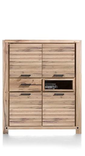Maitre, Bergkast 4-deuren + 1-lade + 1-niche - 140 Cm  (+ Led-spot)