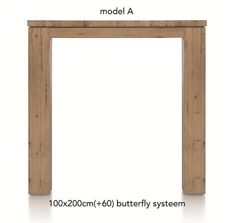 A La Carte, uitschuif-bartafel 200 (+ 60) x 100 cm - AAD-1