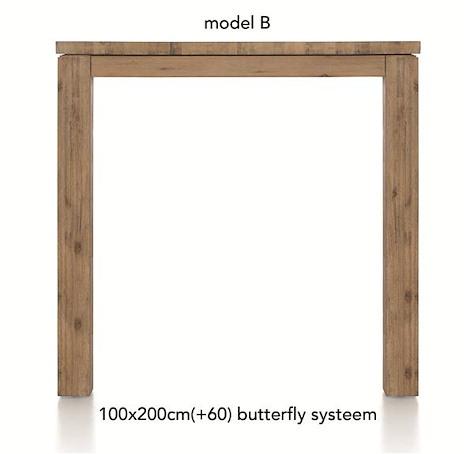 A La Carte, uitschuif-bartafel 200 (+ 60) x 100 cm - BEN-1
