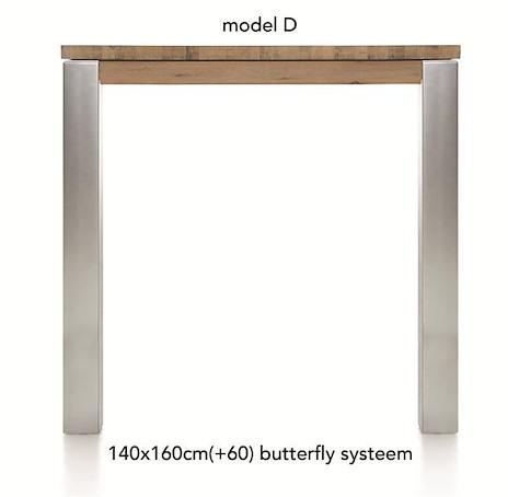 A La Carte, uitschuif-bartafel 160 (+ 60) x 140 cm -DIRK
