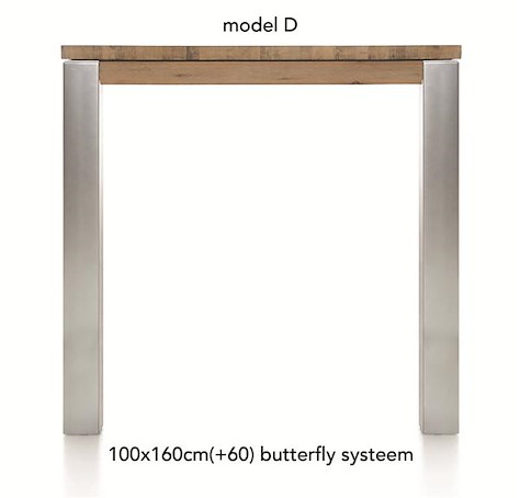 A La Carte, uitschuif-bartafel 160 (+ 60) x 100 cm - DIRK