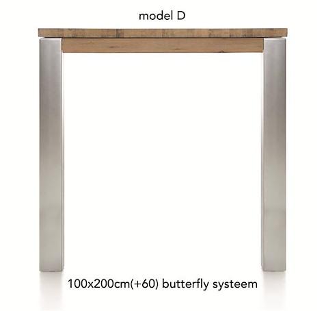 A La Carte, uitschuif-bartafel 200 (+ 60) x 100 cm - DIRK-1