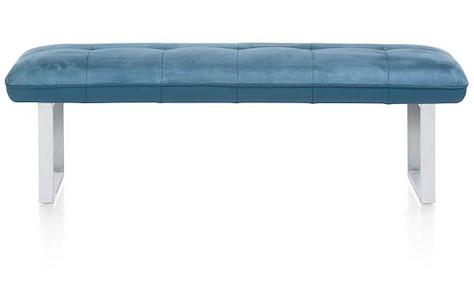 Milva bank, bank zonder rug + pocketvering - 155 cm