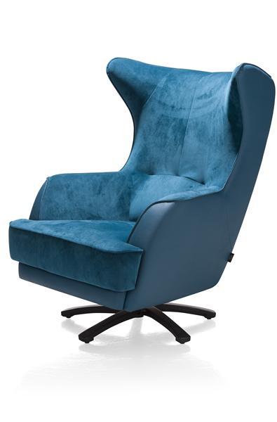 Avatoon, fauteuil met ster-draaivoet in rvs of zwart