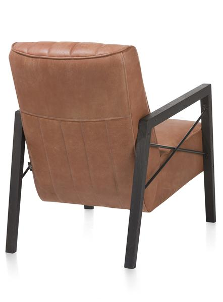 Northon, fauteuil met houten arm vintage clay / white / black