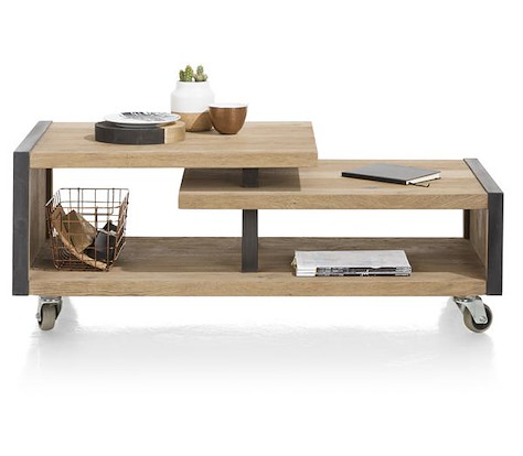 Metalo, salontafel 120 x 60 cm + 1-niche-1