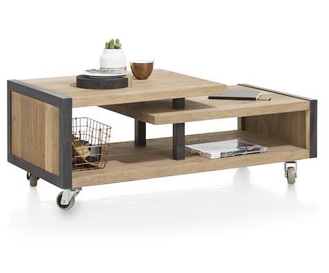 Metalo, salontafel 120 x 60 cm + 1-niche