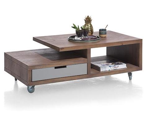Box, salontafel 60 x 120 cm + 1-lade t&t + 2-niches